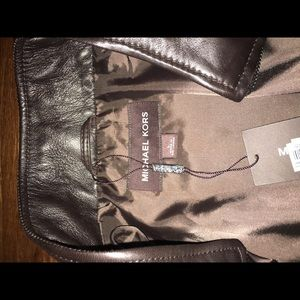 Michael Kors Jackets & Coats - Sleek Men's Michael Kors Brown Leather Jacket